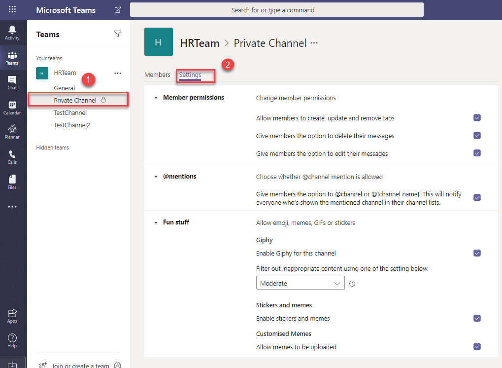 Microsoft Teams Private Channel | JiJi Technologies